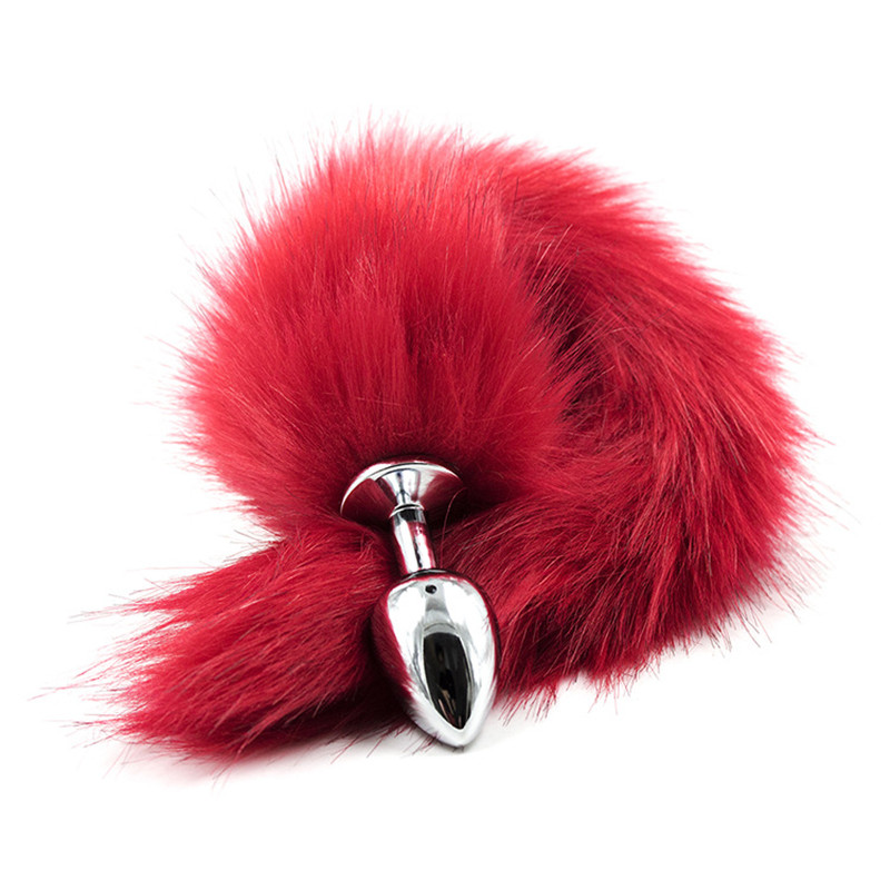 Erotic Accessories Adult Games Butt Plug Stainless Steel Faux Fox Tail Anus Sex Toys for women men Anal Insert Stopper Gift