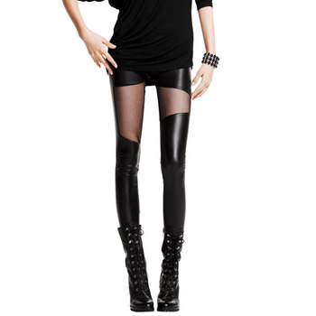 2020 Spring Autumn Leather workout Leggings Hot Charming Warm Cheap Lace legins Sexy PU Leggins Skinny Stretch Splicing Pants 10