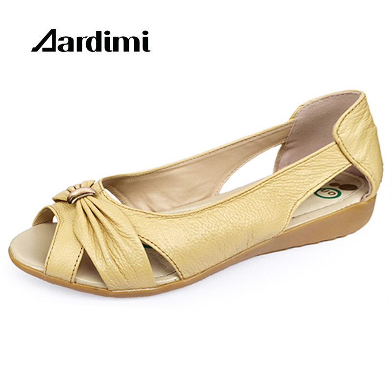 2017 Genuine Leather Summer Flats Women Sandals Summer Women Shoes Falt Gladiator Sandals Women Loafers zapatos mujer sandal stylesowner women slides thick bottom falt sandals 2017 fashion suede leather crystal metal decor shoes woman cool sandal
