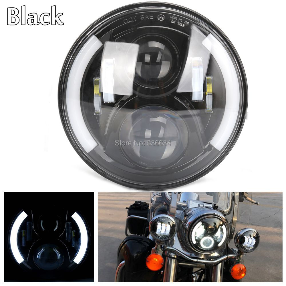 35W/60W 7LED Projector Daymaker Headlight High/Low Beam DRL H4 For Harley Davidson Street Glide Special ,for Jeep Wrangler JK