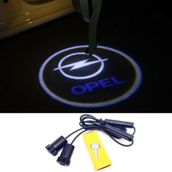 2x For Opel Astra H G J Corsa D C B Zafira Vectra C Mokka Vectra Meriva Omega Vivaro Omega Car Door Welcome Logo Light Projector фото
