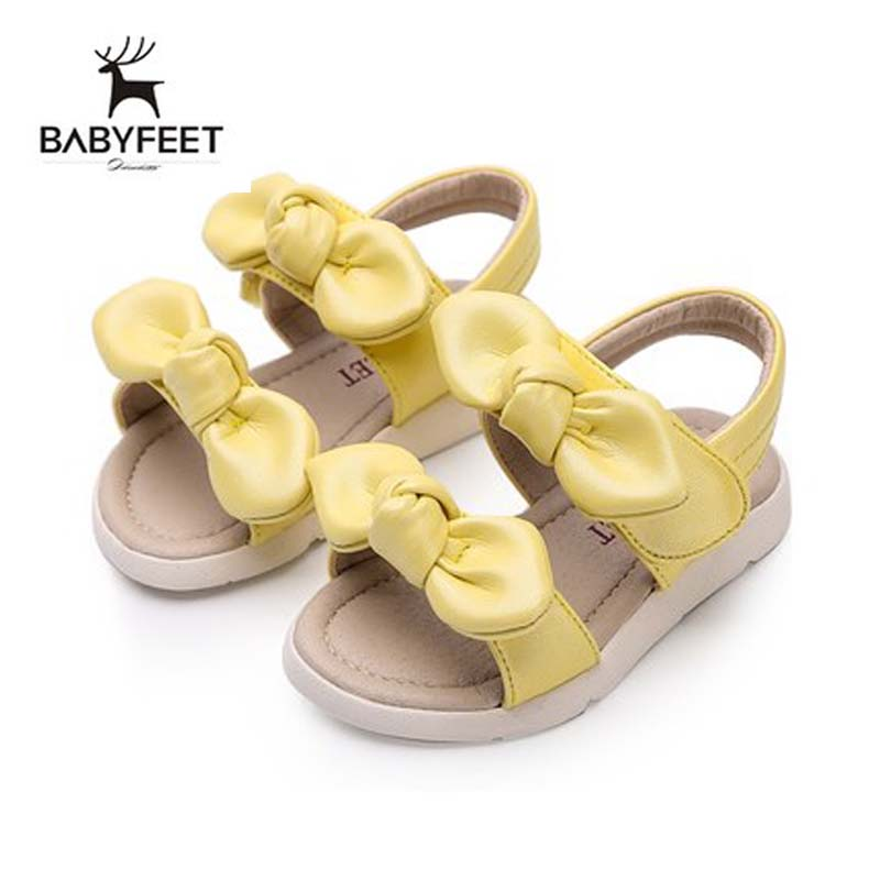 Babyfeet Sweet Casual Princess Baby Girls Sandals Infant Toddler Cute Pink Bow Soft Anti-slip Sole Shoes Breathable New Summer 2017 toddler infant baby boy shoes navy blue casual newborn boys sneaker soft sole girls shoes tenis menino