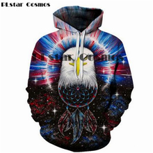 PLstar Cosmos Eagle oil painting  Men/Women Unisex 3d Printed Hoodies animal Sweatshirt fashion tops