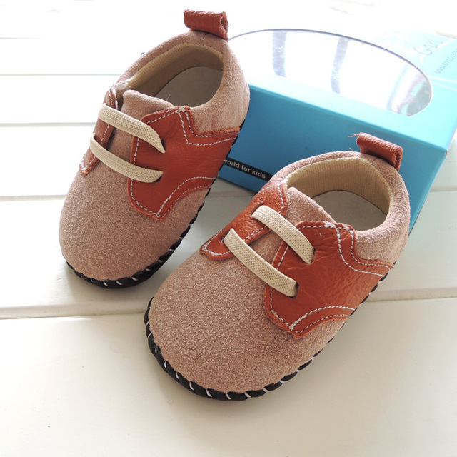 casual baby leather shoes boys shoes soft sole non-slip toddler shoes boys first walkers genuine leather baby prewalkers shoes
