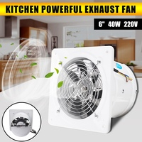 Warmtoo 6 Inch 40W Duct Booster Fan Exhaust Blower Air Cleaning Cooling Vent Metal Blade Window