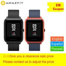 Xiaomi Huami Amazfit Bip Смарт часы английский/испанский/русский gps Smartwatch Android iOS сердечного ритма мониторы Бесплатный подарок ремень