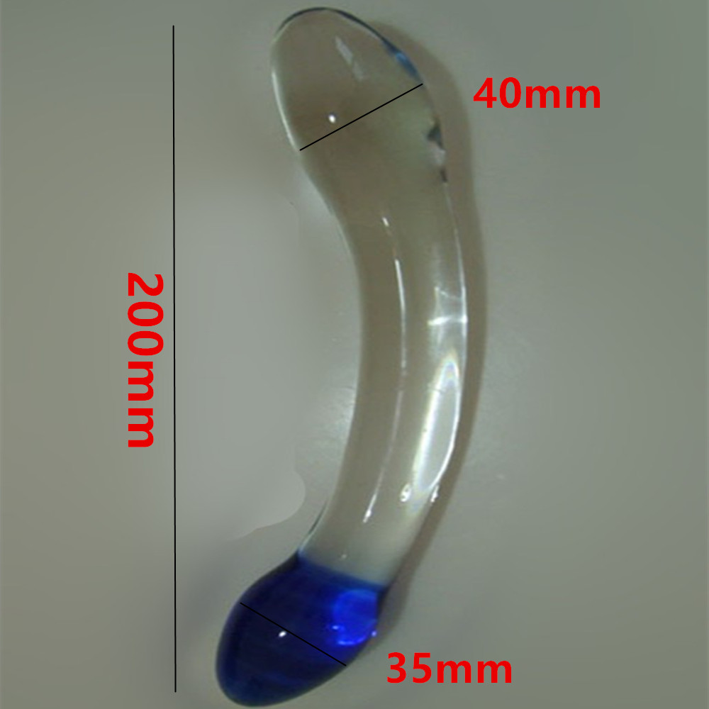 Erotic Anus Sex Toys For Women And Men Gay , 20*4 CM Large Glass Penis Dildos Cock Anal Pleasure Beads Butt Plug In Adult Games large glass huge dildos penis anal butt plug in adult games for couples fetish erotic anus sex products toys for women men gay