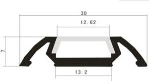 Image 2 - 10PCS 1m length LED strip channel free shipping led strip aluminum channel housing Item No. LA LP28 for 12mm width led strip