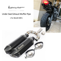 TNT600 BJ600 BN600 Exhaust Pipe for Benelli 600 Motorcycle Exhaust Slip On 43 mm Mid Middle 51 mm Muffler Tail Escape DB Killer