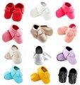 Bebê recém-nascido Mocassins Macios Moccs Baby Shoes meninas franja primeiro walker Anti-deslizamento De Couro pu princesa Infantis meninos calçados