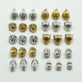 10pcs Metal Charms For Jewelry Making DIY Antique Sliver Gold Plated Tibetan Buddha leopard Lion Head Beads Spacer Beads