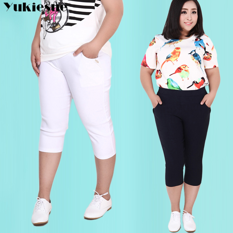 summer 2019 women's   pants     capris   with high waist pencil   pants   for women trousers woman   pants   female black Plus large size 6XL