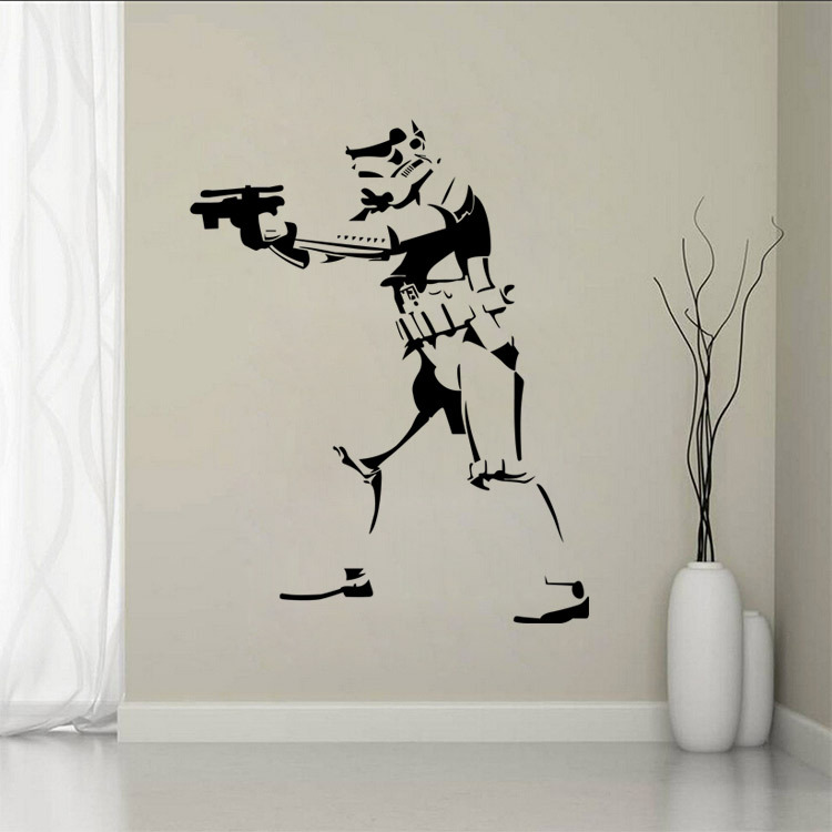 Aliexpress.com : Buy B40 Star Wars Removable Wall Stickers For Kids Vinyl  Wall Art Sticker STORM TROOPER POSTER VINYL LIFE SIZE WALL ART BIG MURAL  From ...