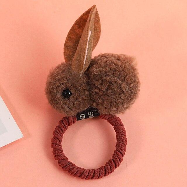 New Cute  Animals Rabbit  Style Hair Bands Felt Three-Dimensional Plush Rabbit Ears Headband For Children Girls Hair Accessories 4