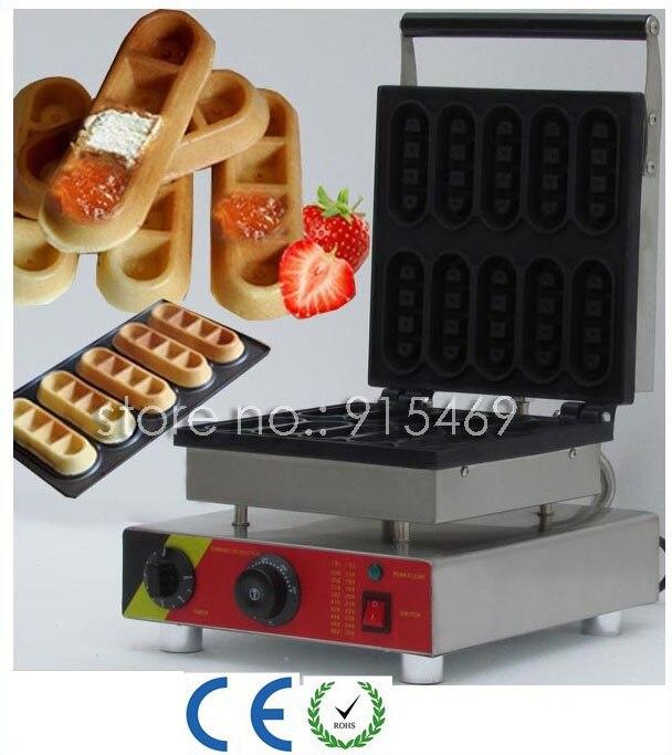 Livraison Gratuite 110 v 220 v Électrique Commerciale 10 pcs Chocolat Gaufre Bâton Maker Fer Machine Baker