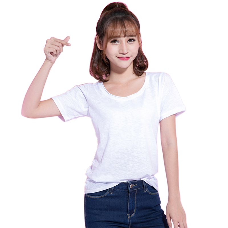 b64f54f3da US $10.63 24% OFF|2018 Brand New Fashion Women T shirt Brand Tee Tops Short  Sleeve Cotton Tops for Women Clothing Solid O neck T Shirt-in T-Shirts ...
