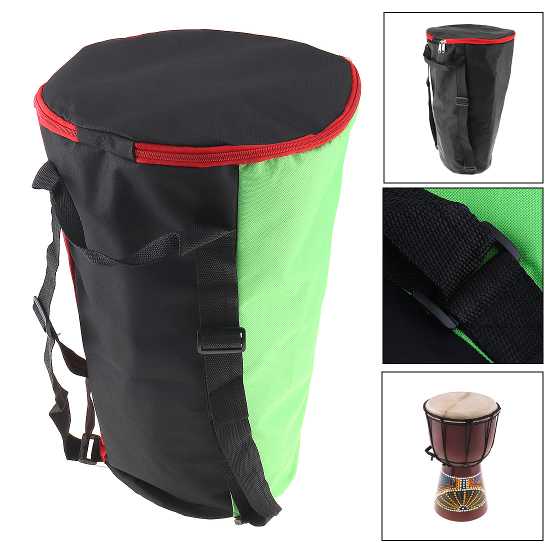 10 Inch Portable Djembe Bag Case Thick Shockproof Waterproof Africa African Drum Bags Tambourine Shoulders Back Package
