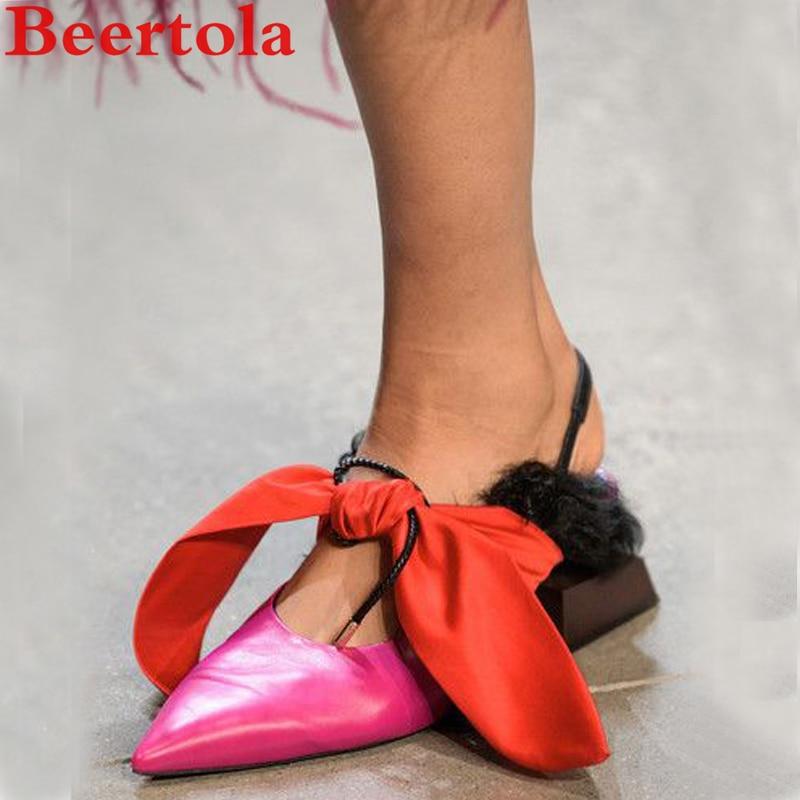 Rue Sandales Picture Talons as Chat Piste Chaussures as Seule Étrange marche Cuir Travail Pic As Parti Femme Muller Élégant Pic En Beertola Ruban 6dRqxfwSS