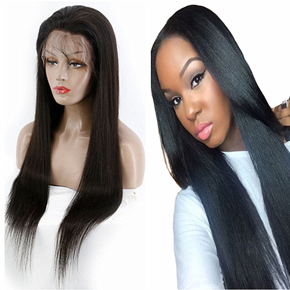 silky straight human hair wig