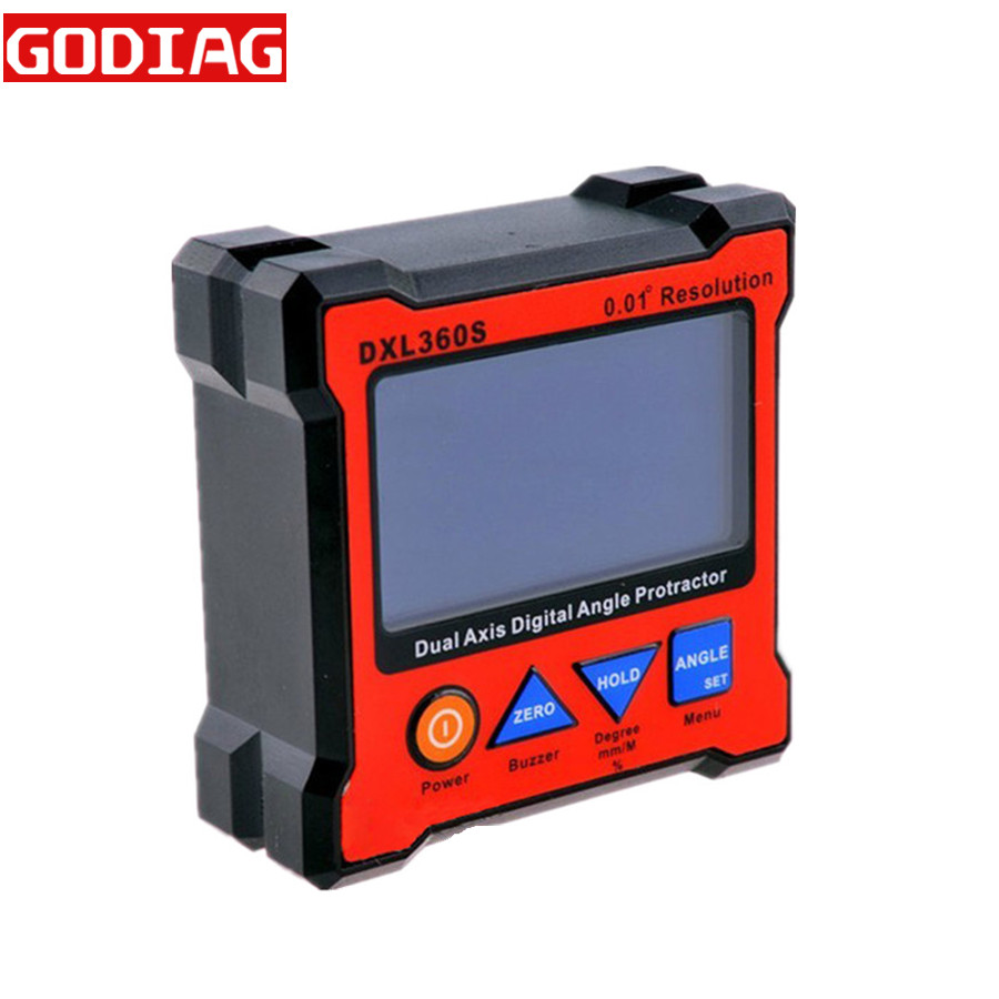 DXL360S GYRO and GRAVITY 2 in 1 Dual Axis Digital Angle Protractor Inclinometer Dual Axis Level