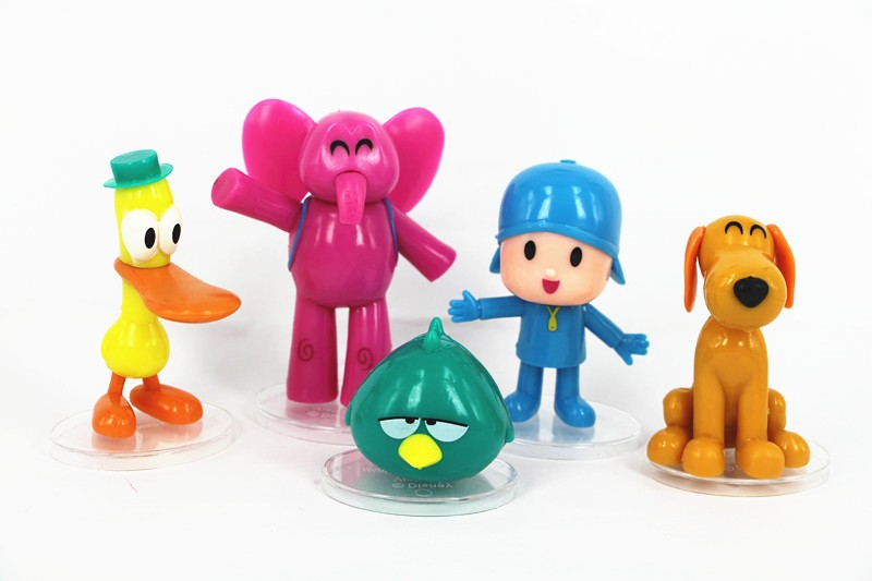 1set lot 8cm pvc pocoyo zinkia elephant bird duck cartoon dog doll toys Furnishing articles Children 39 s toys Holiday gifts in Action amp Toy Figures from Toys amp Hobbies