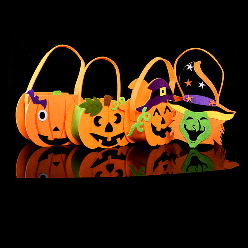 pumpkin bags halloween party supplies candy bags candy basket non woven fabrics halloween props wedding - Halloween Party Decorations Cheap