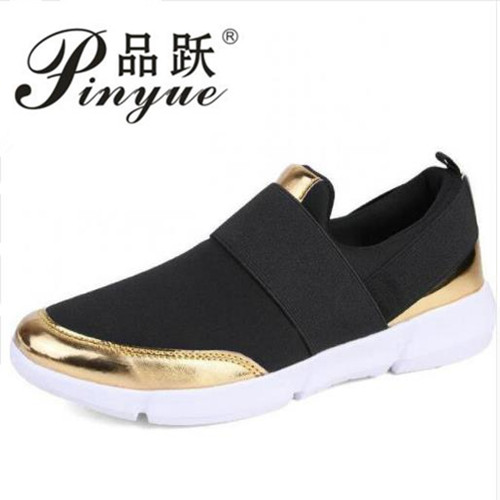 2018 Summer Women Casual Shoes Female Platform Shoes Slip On Women Flat Tenis Feminino Casual Ladies Shoes Flats Silver mwy women breathable casual shoes new women s soft soles flat shoes fashion air mesh summer shoes female tenis feminino sneakers