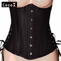 26 Double Steel Boned Long Cut Corset Heavy Duty Waist Shaper