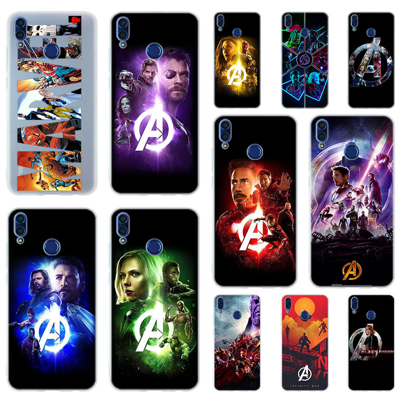 <font><b>Marvel</b></font> The Avengers Infinity War Soft TPU <font><b>Case</b></font> Cover For Huawei <font><b>Honor</b></font> <font><b>9</b></font> 10 <font><b>Lite</b></font> 6X 7X 8X Max 7A 5.7inch 8A 8C V20 PLAY 9i image
