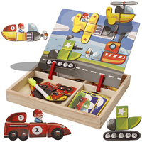 Traffic Early Educational Baby Montessori Toys Wooden Puzzle Cognition Learning Kids Toy Waldorf Toys Hobbies T0097