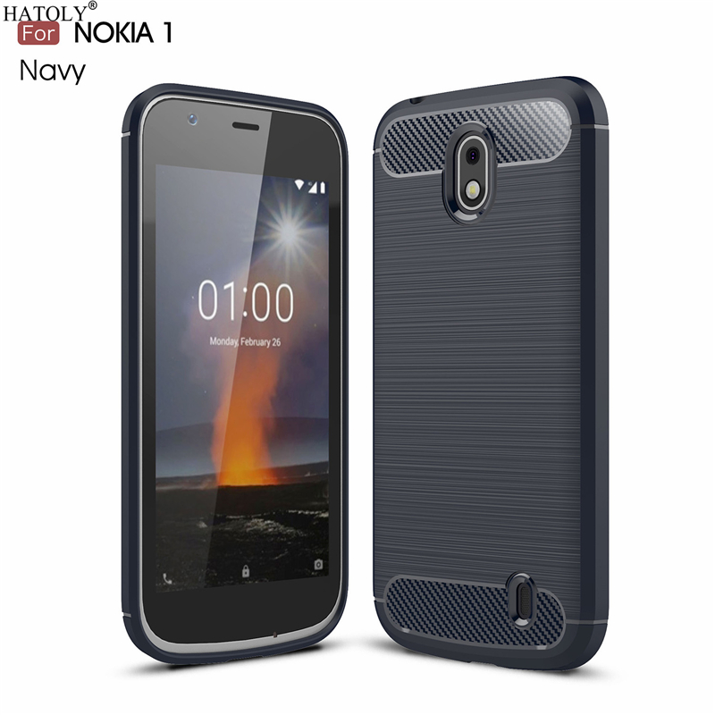 HATOLY For Capas <font><b>Nokia</b></font> 1 <font><b>Case</b></font> Anti-knock Soft TPU Brushed Rugger Silicone Phone <font><b>Cases</b></font> For <font><b>Nokia</b></font> 1 2018 TA-<font><b>1047</b></font> TA-1060 TA-1056 image