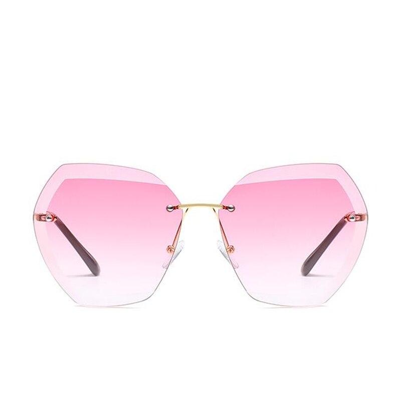 8fb8f7d486 Luxury Transparent Gradient Sun Glasses For Women Elegant Rimless  Sunglasses Women Brand Designer Retro Female Ladies Sunglass-in Sunglasses  from Apparel ...