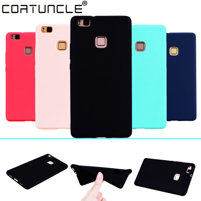 COATUNCLE TPU Soft Cases Huawei P9 lite Case Slim 360 Protect Candy Color Silicon Back Cover on For Huawei P9 Lite Case cover
