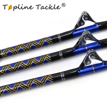 2018 TopLine Tackle FX80130 Fishing straight butt nylon fishing trolling jigging rod 80-130lbs match game
