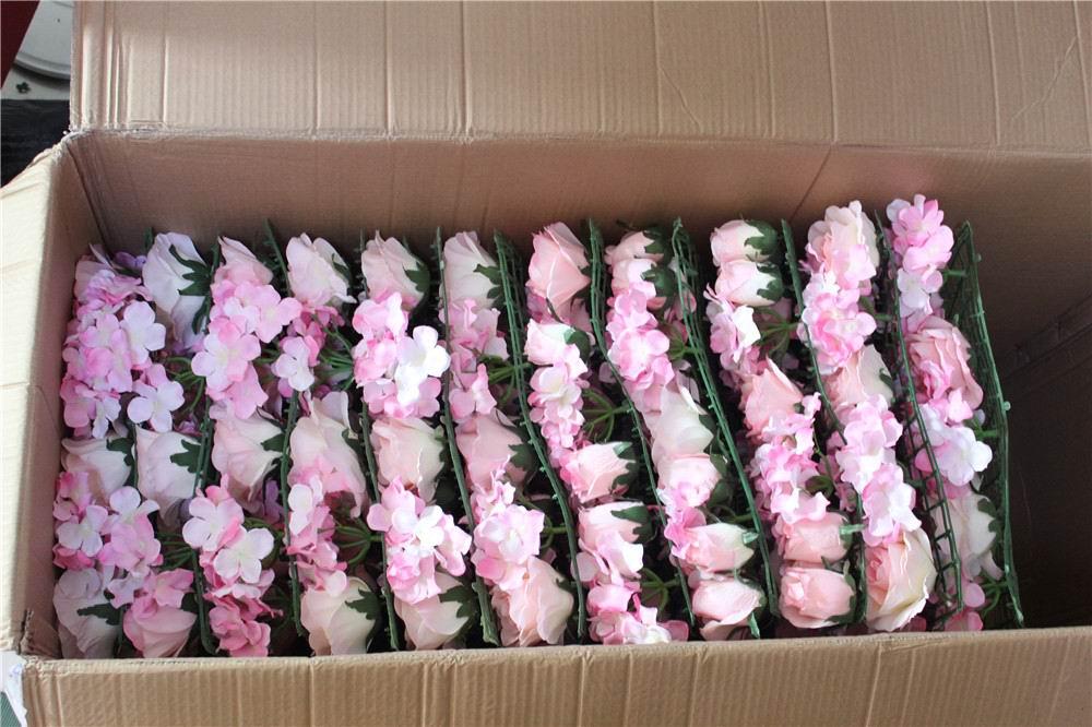 SPR 10pcs / lot Umetna svila rose cvet stena 10 barv poročno ozadje - Prazniki in zabave - Fotografija 4