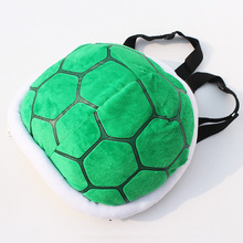 Free Shipping Super Mario Bros Turtle Shell Adjustable Backpack Plush Bag Retail 30 28cm