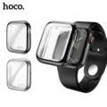 Original hoco 360 graus magro relógio capa para apple assistir série 4 5 caso macio claro tpu protetor de tela para iwatch 44mm 40mm