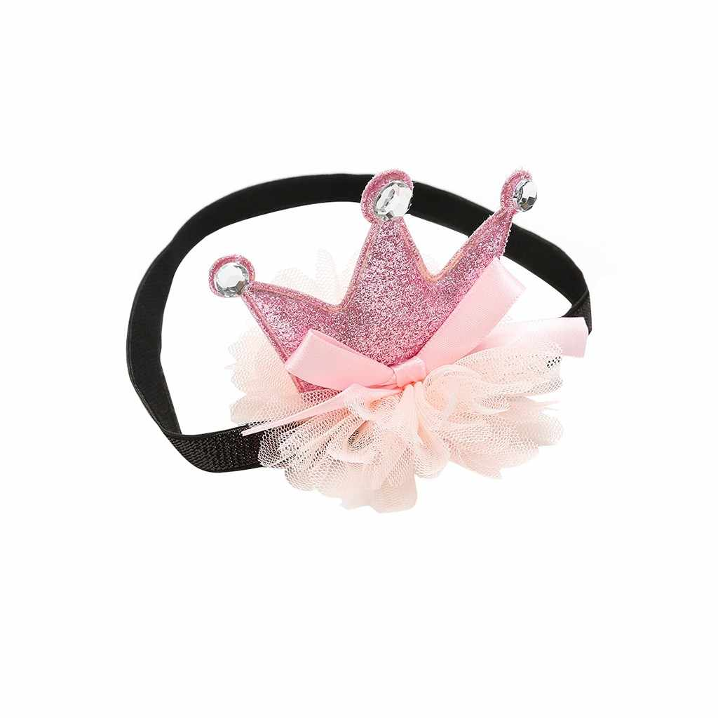 Moda belleza Linda niña dulce diadema para bebé trae corona banda de pelo turbante Niña Accesorios para el cabello
