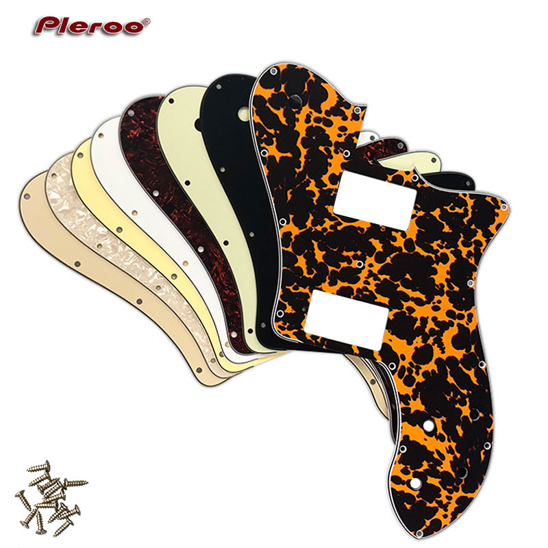 Pleroo Custom Guitar Parts - For US FD 72 Tele Deluxe Reissue Guitar Pickguard With PAF Humbucker Replacement