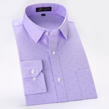 Men's Long Sleeve Print Oxford Dre...