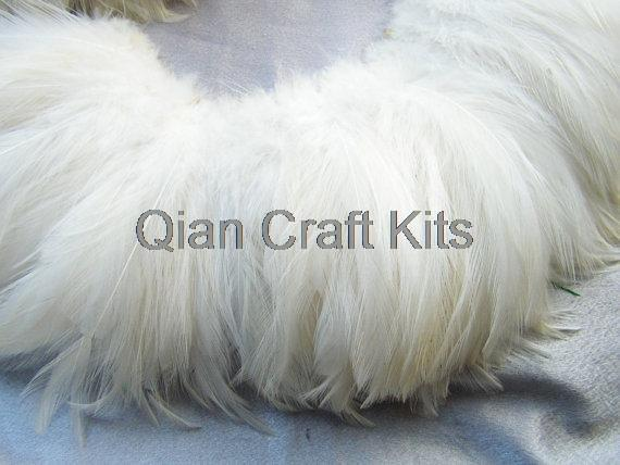 Hair-Extensions Rooster-Feathers White Natural Wholesale Lot 500pcs Bulk Approx. -5-3-