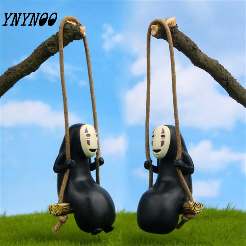 YNYNOO Anime Studio Ghibli Spirited Away No Face Man Action Figure Miyazaki Hayao Kaonashi Model 8cm Decoration Doll Kids Toys a spirited resistance