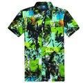 Homens Da Camisa havaiana 2017 Chegadas Novas Camisas de Manga Curta de Praia Masculino L-4XL (Asian Size)