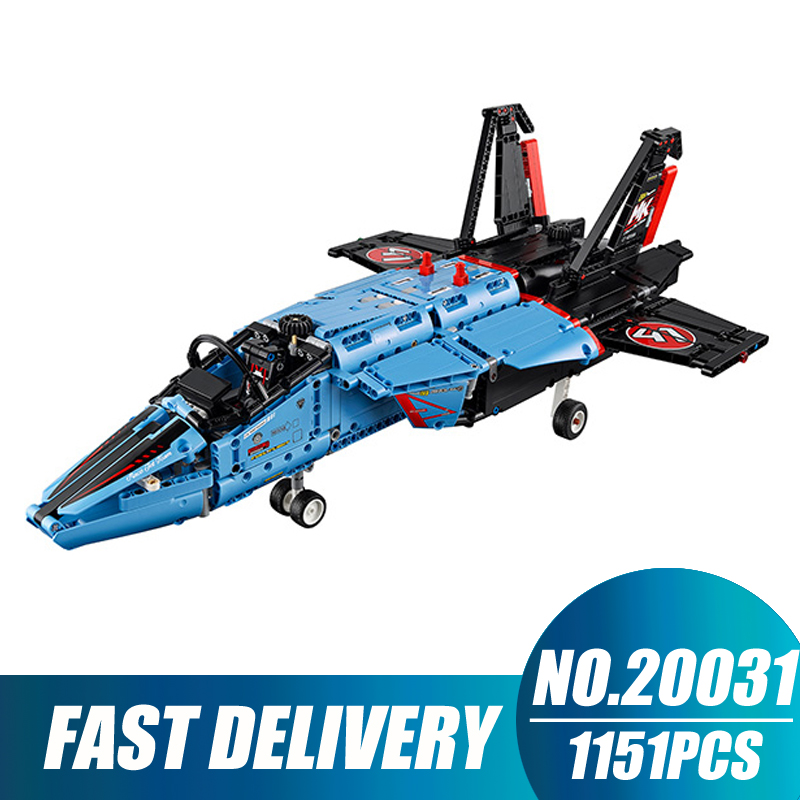 Compatible Legoe Technic 42066 Model 20031 1151pcs Jet Racing Aircraft Air Race Jet building blocks Bricks toys for children lepin 20031 technic the jet racing aircraft 42066 building blocks model toys for children compatible with lego gift set kids