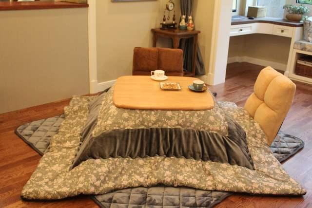 Placeholder 2pcs Set Kotatsu Futon Comforter Carpet For Heated Table Square Japanese Top