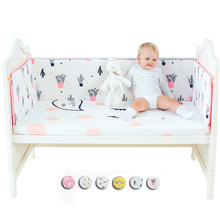 Newborn Crib Bumper Bed Baby Cot Knotted Crib Bumper Protection for Baby Bed Infant Bedding Bumper Safe Baby Decoration Room