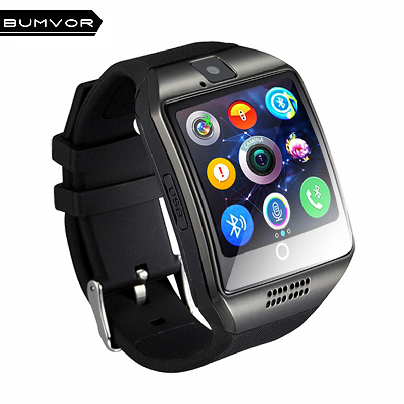 Bluetooth Smart Watch Q18 With Camera Facebook Whatsapp Twitter Sync SMS Smartwatch Support SIM TF Card For IOS Android smart watch q18 with touch screen with camera support sim tf card bluetooth smartwatch for android ios iphone