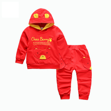 2018 Spring Autumn Children Boys Girls Fashion Clothing Sets Baby Hoodies Pants 2Pcs/Sets Kids