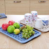 Wheat Straw Fruit Water Cup Drainage Tray Nordic Style Shelf Kitchen Drain Basin