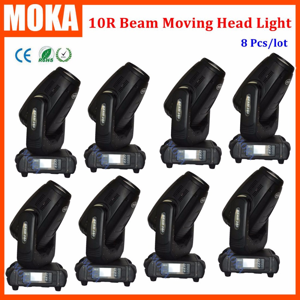 8 pcs/lot moving head beam 10r sharpy 280w 3in1 spot wash beam led stage effect moving head beam dj light free shipping 6pcs lot 120w moving head light sharpy beam 2r led lights dj disco club party wedding stage effect